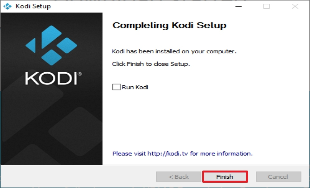 Step 9 Install Kodi from the Official Website