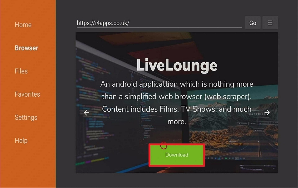 Step 13 Install Live Lounge on Firestick