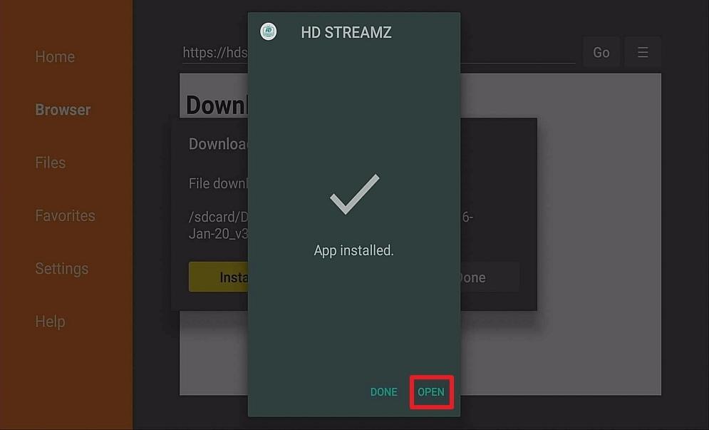 Step 14 Install HD Streamz IPTV on Firestick