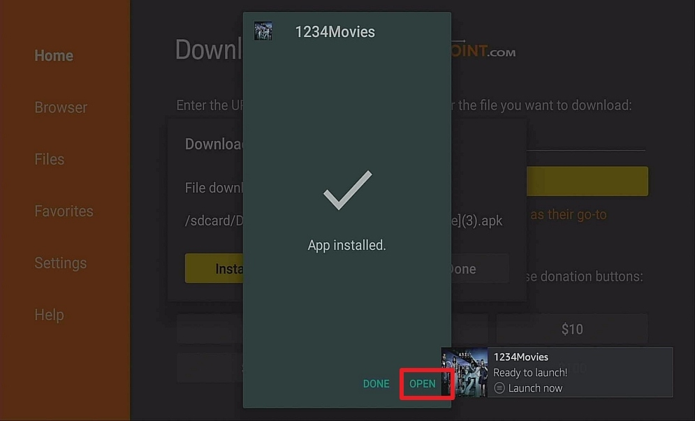 Step 14 Install 1234Movies on Firestick