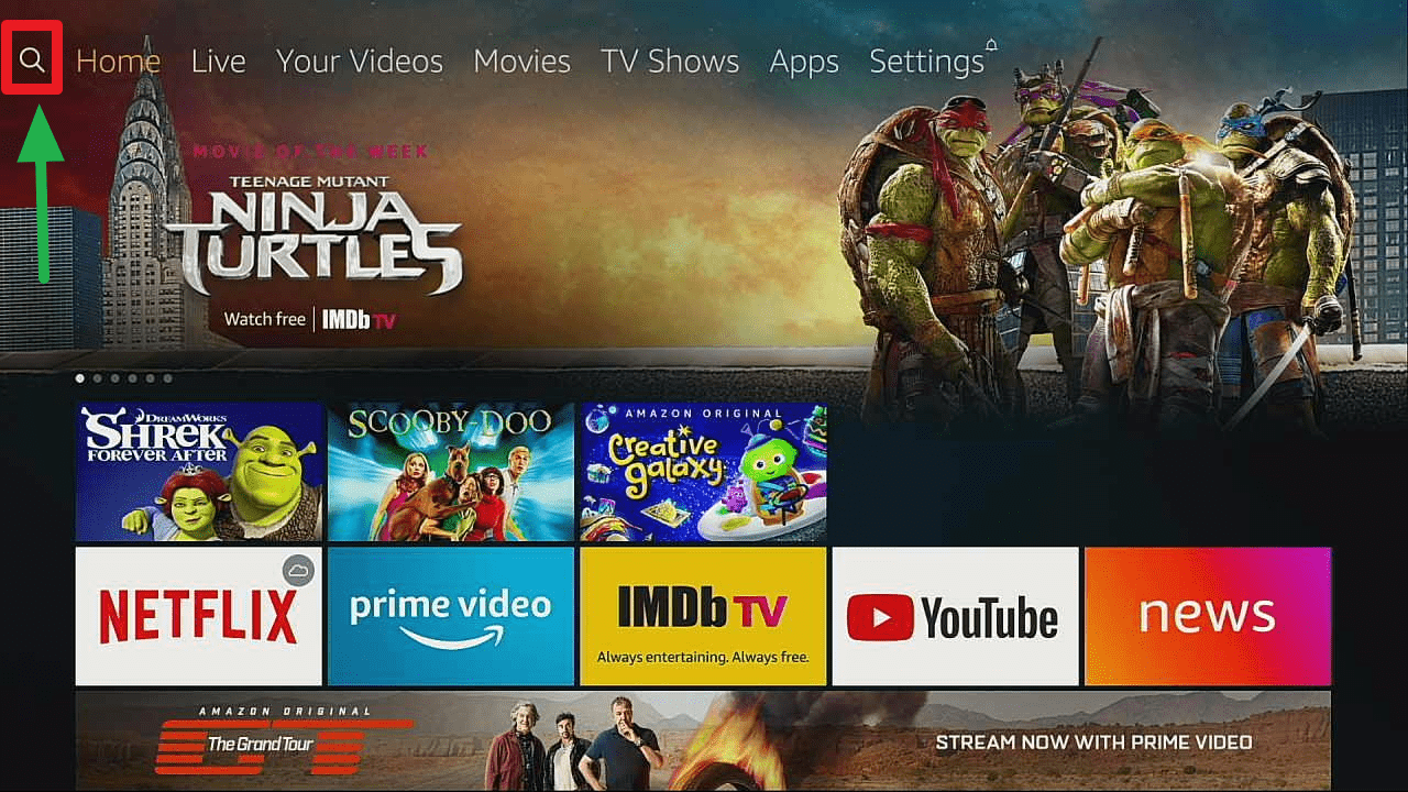 install puffin tv on a firestick step 7
