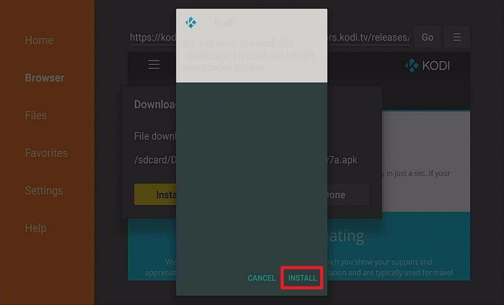 Step 14 Download Kodi On Your Firestick via Downloader App