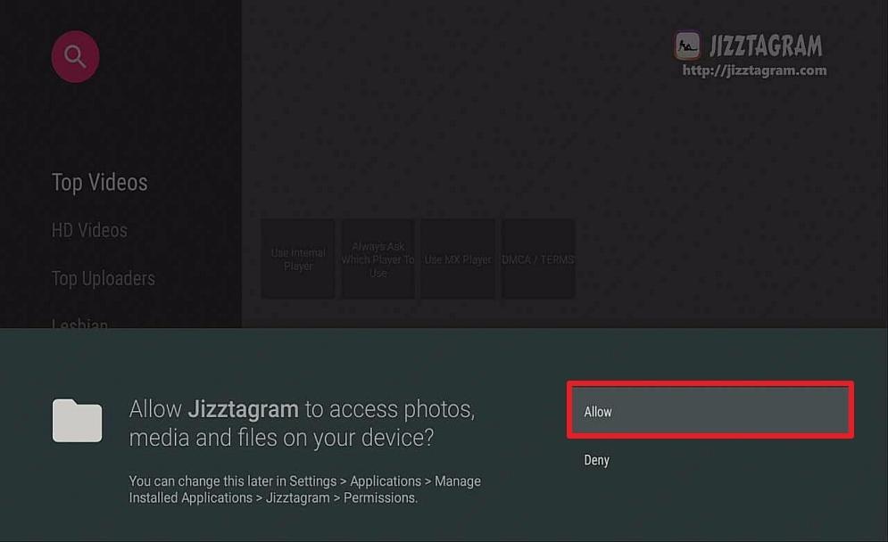 Step 16 install jizztagram on firestock