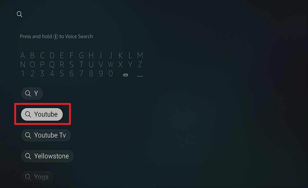 Step 2 Install Youtube on Firestick