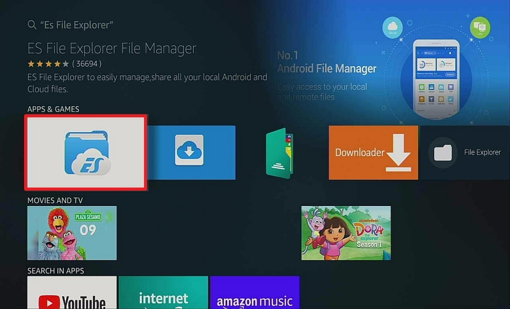 Step 6 Download Kodi Using ES File Explorer
