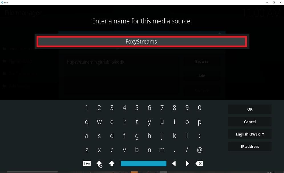 Step 11 Install FoxyStreams on kodi