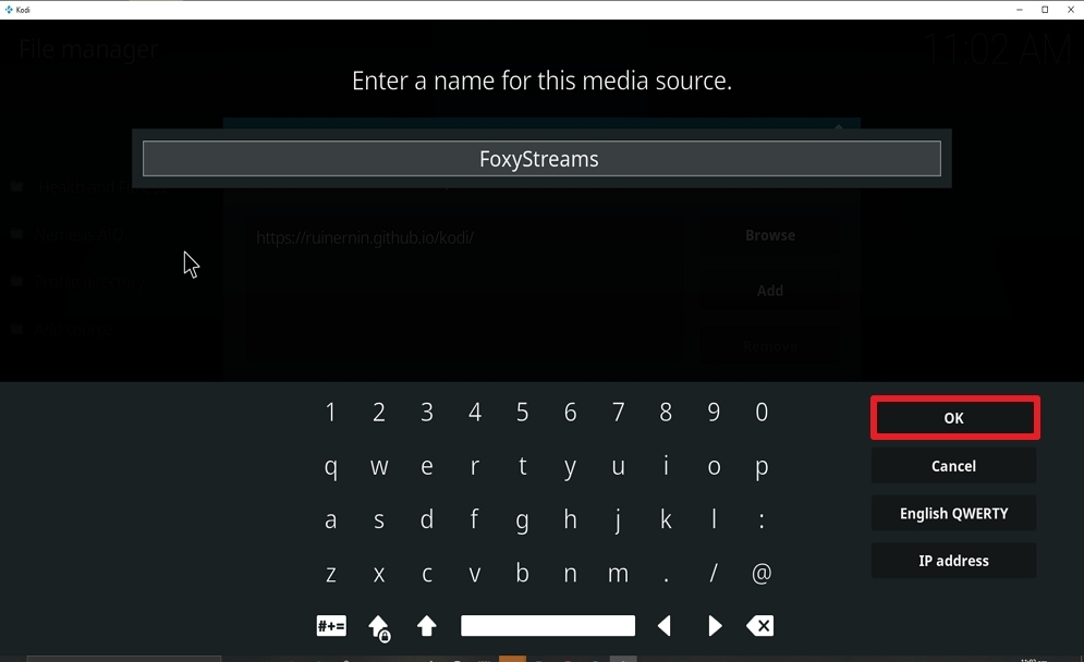 Step 12 Install FoxyStreams on kodi