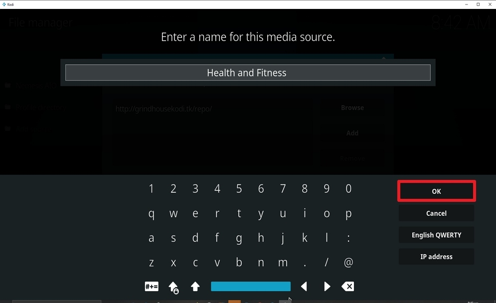 Step 12 Install Health and Fitness on kodi
