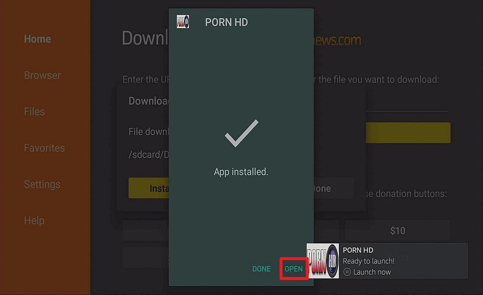 Step 14 Install Porn HD on Firestick
