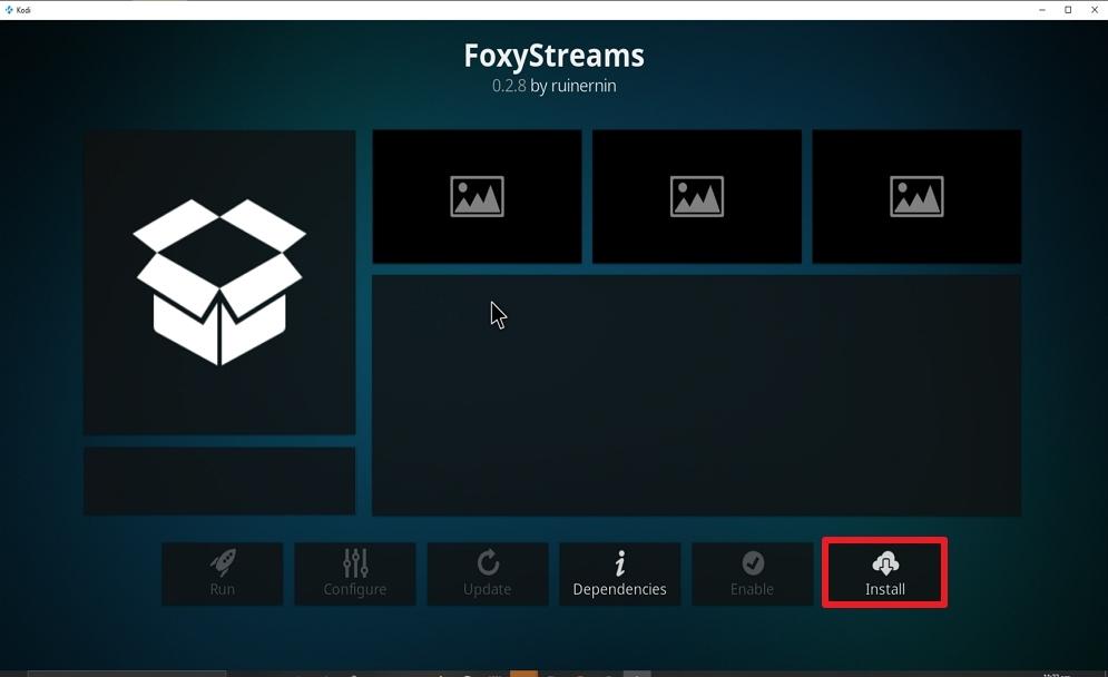 Step 23 Install FoxyStreams on kodi
