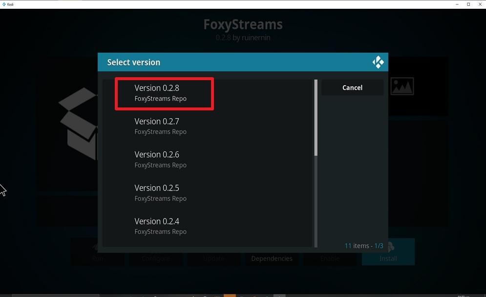 Step 24 Install FoxyStreams on kodi
