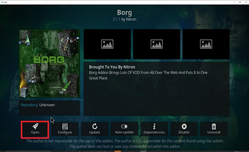 Step 27 Install Borg on kodi