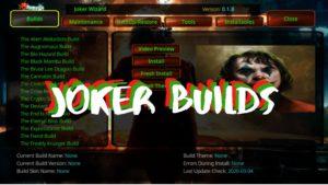 Joker builds kodi logo