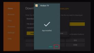 Step 14 Install Kraken TV v1.4.9