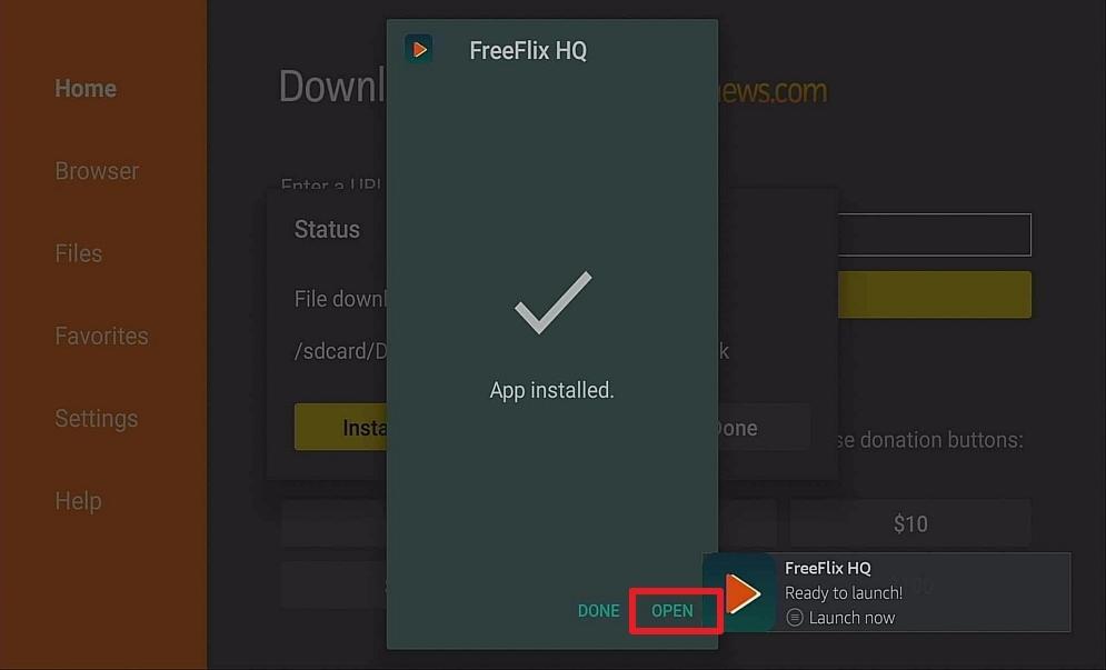 Step 14 Install Free Flix HQ on firestick
