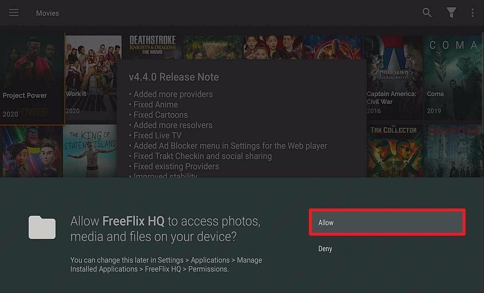 Step 15 Install Free Flix HQ on firestick