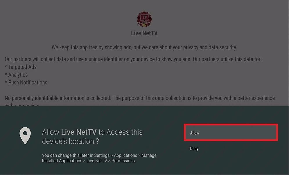 Step 16 Install Live NetTV on firestick